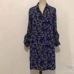 DVF Diane Von Furstenberg silk blue star dress. 0